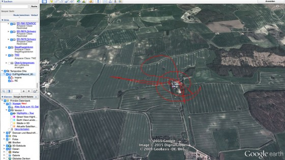 DJi Flugdaten in Google Earth