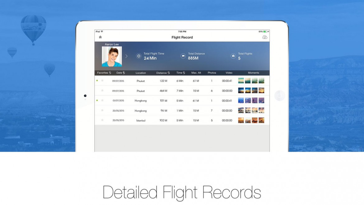 Flight Records DJI Go App